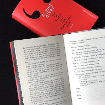 Divry, Als derTeufel aus dem Badezimmer kam. Typografie der deutschen Ausgabe: Annika Preyhs für buchstabenplus