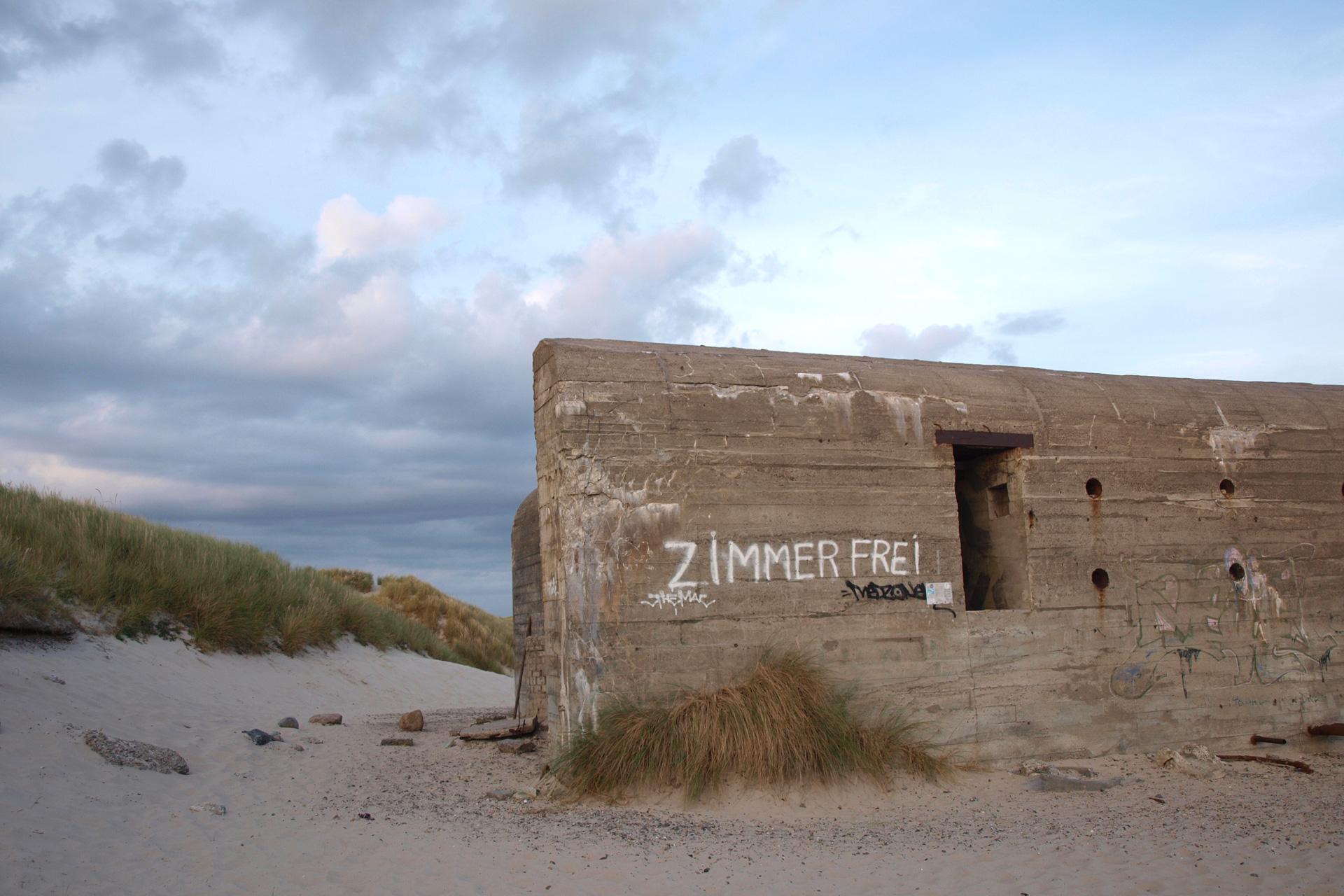 buchstabenplus in Skagen: Bunker