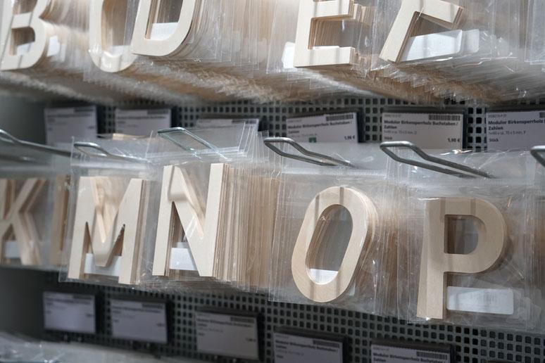 buchstabenplus bei Modulor Berlin, dem Paradies für Kreative
