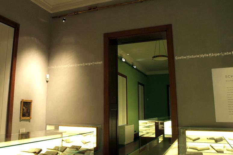 buchstabenplus im Schiller Nationalmuseum in Marbach